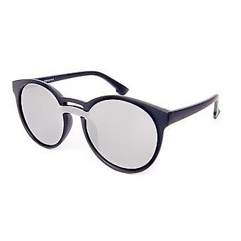 Solglasögon Unisex panto svart/silver
