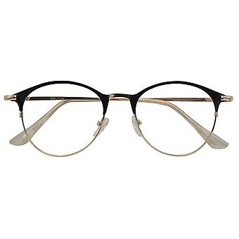 Gafas de lectura Janis femenino espesor negro / oro +1.00