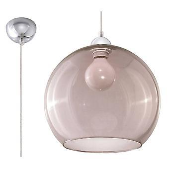 1 Licht Glas Kuppel Deckenanhänger Graphit, Chrom, E27