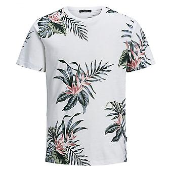 Jack & Jones Holiday Floral Tee (wit)