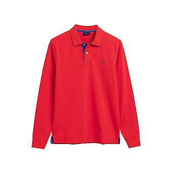 Gant Men's Long Sleeve Polos Regular Fit