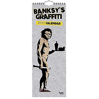 Banksys Graffiti 2021 Slimline Calendar by Browntrout