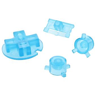 Zedlabz replacement button set a b d-pad power switch for nintendo game boy pocket - clear blue