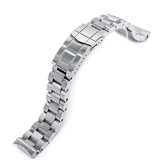 Strapcode watch bracelet 20mm hexad 316l stainless steel watch band for seiko mm300 prospex marinemaster sbdx001, sub diver clasp