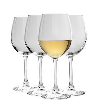 Bormioli Rocco Nadia Cabernet Wine Glasses Set | Lead-Free Glass | 370ml (12 1/2 oz) - Pack of 4