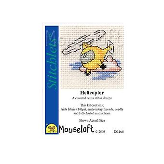 Helicopter Stitchlets Counted Cross Stitch Kit
