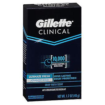 Gillette Clinical Strength Anti-Perspirant Deodorant Advanced Solid Fresh, 1,7 oz