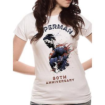 Superman Womens/Ladies 80th Anniversary Design T-Shirt