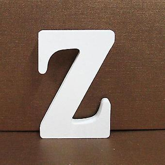 1pc Freestanding Wooden Letters - White Alphabet For Wedding / Birthday Party