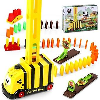 100 Pcs Color Domino Blocks Toy- Train Automatic Licensing Bricklaying