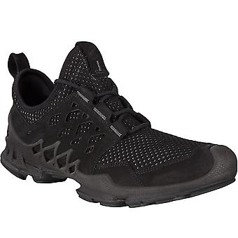 Ecco Mens Biom AEX Low GORE-TEX Leather Trainers Sneakers Shoes - Black