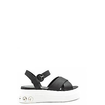 Miu Miu Ezbc057024 Women's Black Nylon Sandals