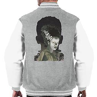 The Bride Of Frankenstein Head Men's Varsity Jacket