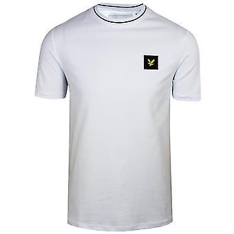 Lyle & scott men's white tipped t-shirt