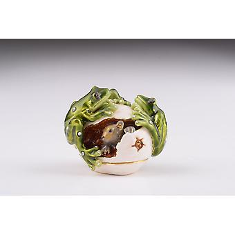 Frogs On Egg - Trinket Box