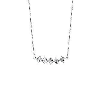 Fünf Stein Diamant Halskette