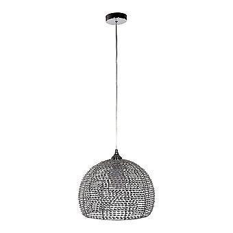 Italux Justin - moderne hängende Anhänger Chrom, Aluminium 1 Licht mit Aluminium-Schatten, E27