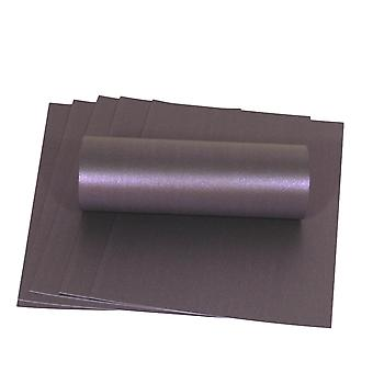 10 أوراق انبهار الأرجواني A4 بطاقة مع وميض اللؤلؤ الزخرفية واحد من جانب 300gsm