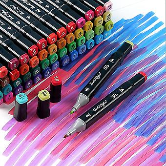 Mimigo 24-color Dual Tip Brush Pens Art Markers Set, Artist Fine And Brush Tip Colored Pens, For Kids Adult Coloring Books Christmas Cards Drawing, No