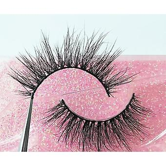 1 Pair 3d Mink - Fluffy Dramatic Makeup, Natural Long False Eyelashes