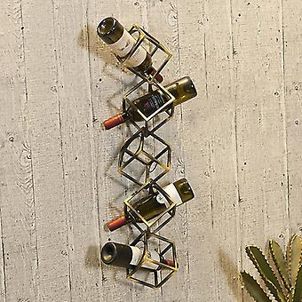 Creative Metal Grape Wine Rack Wall Hanging On The Wall Of Restaurant