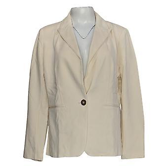 Laurie Felt Women-apos;s Suit Jacket/Blazer Knit Ponte Ivory A346611