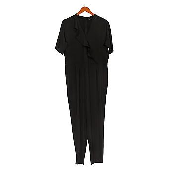 H By Halston Jumpsuits Elbow Sleeve Jersey Ankle Jumpsuit Black A368025