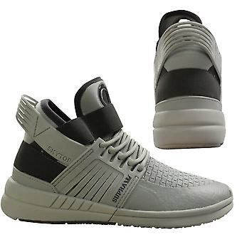 Supra Skytop V Light Grey Slip On High Top Lace Up Mens Trainers 08032 052 B44E