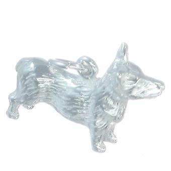 Corgi Sterling Silver Charm .925 X 1 Corgis Queen England Dogs Charms - 280