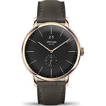VOTUM - Reloj Unisex - VINTAGE - VINTAGE - V09.20.20.05 - correa de cuero - gris-marrón