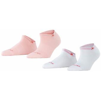 Burlington Everyday calcetines de 2 paquetes - Orchid Pink/White