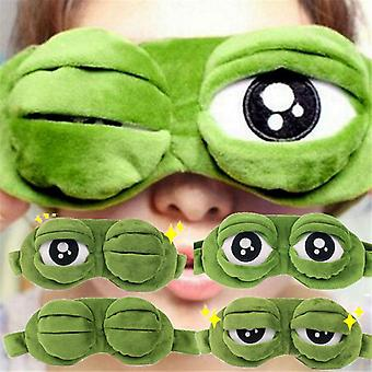 Funny Creative Pepe The Frog Sad 3d Eye Mask Cover