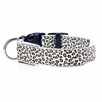 Leopard Led Adjustable, Glowing Night Safety, Nylon Luminous Led, Bright Collar