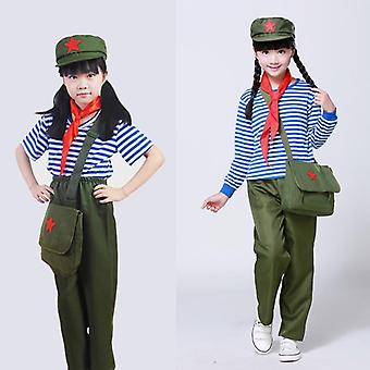 Military Uniform Chinese Red Army Costume Scouting Uniforms