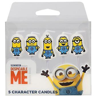 Despicable Me - Pack de bougies de caractère de 5 minions