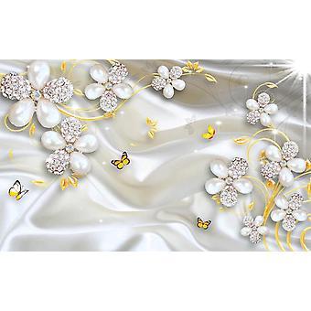 3d Fresco Wall Paper Sticker Luxury Flower Soft Bag Globe Jewelry Tv Background