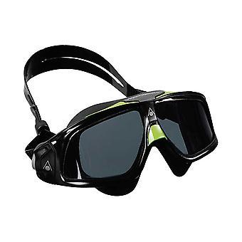 Aqua Sphere Seal 2.0 Swimming Goggle Mask - Dark Lens - Black/Green