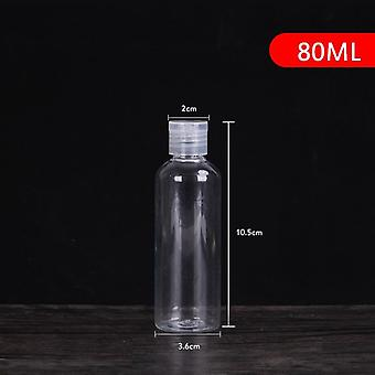 5/10/30/50/80/120/200/250 Ml Plastic Transparent Bottle Butterfly Cap Makeup
