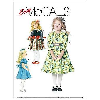McCalls Naaipatronen 6197 Meisjes Kinderjurken Maat 6-8