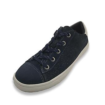 Lurchi svenja navy suede trainers with zip & laces