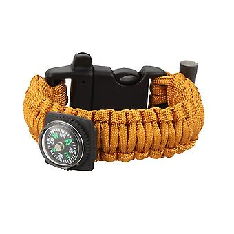 Multi-color paracord parachute cord emergency kit survival bracelet rope with whistle