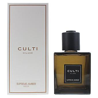 Culti Milano Decor Diffuser 500ml Supreme Amber - Sticks Not Included In The Box
