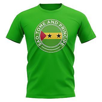 Sao Tome ja Principe Jalkapallomerkki T-paita (vihreä)