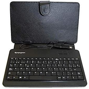 Custodia per tablet e tastiera Powergreen FTE-0010-SP Spagnolo Nero (19 x 14