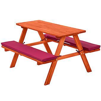 tectake Picknickbänk med sittdyna för barn