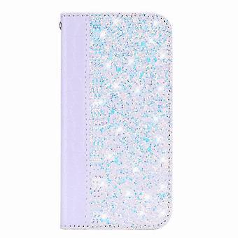 Glänzende Ledertasche für Huawei P20 Lite - Blanc
