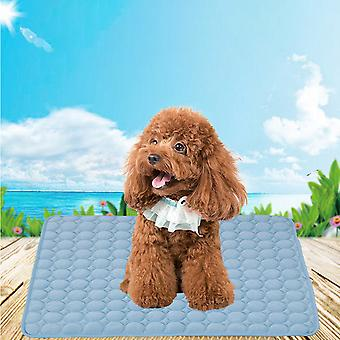 Swotgdoby Pet Cooling Mat - Ice Silk Cooling Mat For Dogs & Cats, Portable & Washable Pet Cooling Blanket For Outdoor, Car Seats, Beds And More In Sum