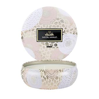 Voluspa 3-Wick Candle Decorative Tin Santal Vanille 340g