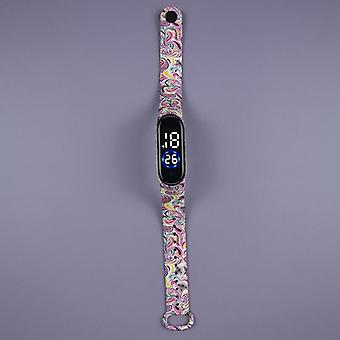 Creative Cartoon Digital Clock Colorful Waterproof Watch