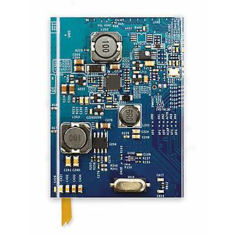 Circuit Board Blue Foiled Journal by Created by Flame Tree Studio
